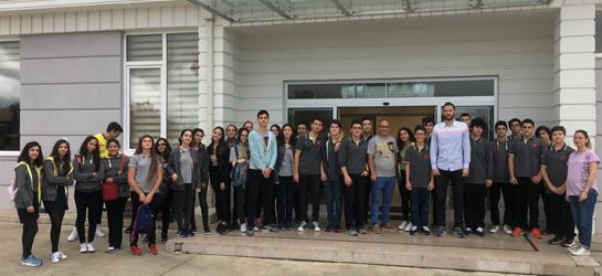 Özel Trabzon Bahçeşehir Koleji Fen ve Teknoloji Lise Müdürü Hakan Öztürk ve beraberindeki öğrencilerin OSB'mizi ziyaretleri